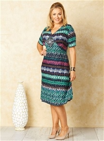 Tribal Print Jersey Dress