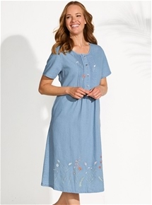 Embroidered Border Dress