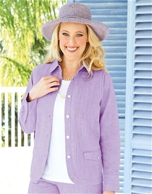 Cotton Pintuck Overshirt