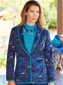 Floral Flocked Jacket