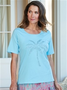 Diamante Palm Tee