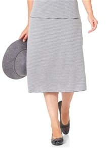 Travel Reversible Knit Skirt