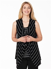 Travel Mix Stripe Vest