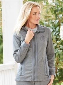 Quilted Trim Knit Jacket