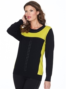 Orchis Stud Panel Sweater