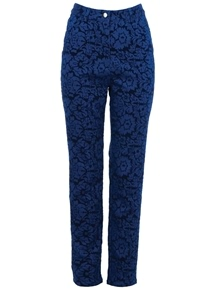 Blue Velvet Baroque Pants
