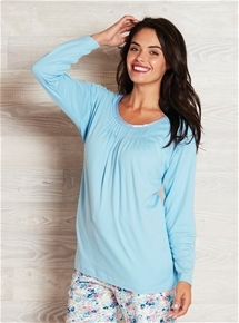 Long Sleeve Cotton PJ Top