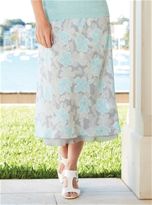 Reversible Graphic Floral Skirt