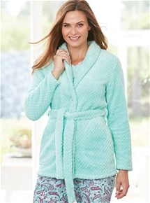 Textured Plush Bed Jacket