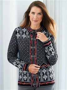 Snowflake Knit Jacket