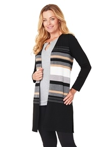 Travel Stripe Cardigan