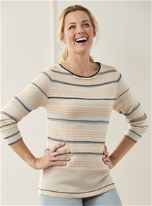 Sabine Stripe Knit Sweater