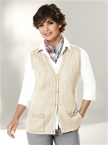 Diamond Knit Vest