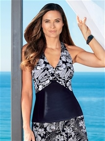 Twist Front Tankini Top