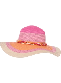 Colourful Wide Brim Hat
