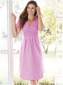 Short Sleeve Cotton Nightie