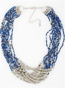 Astrid Multirow Bead Necklace