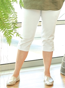 Button Cuff Crop Pant [PLUS SIZE]