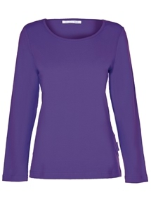 Plain Long Sleeve Scoop Neck Tee