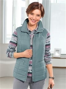 Zip Through Quilted Vest