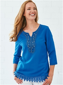 Beaded Lace Tunic