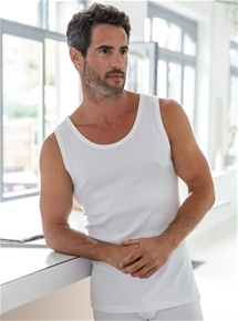 Mens Cotton Rib Vest - 2 Pack