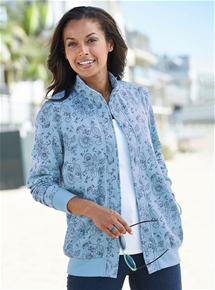 Button Front Printed Leisure Jacket
