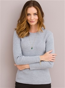 Merino Blend Crew Neck Sweater