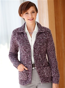 Berry Knit Jacket
