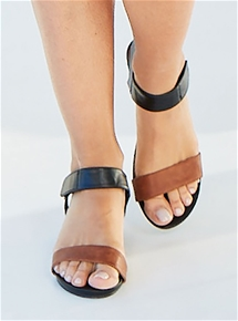 Two-Tone Strappy Heel