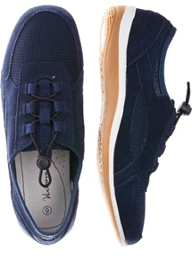 Suede Toggle Front Sneaker