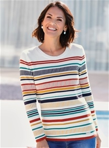 Batik Stripe Sweater