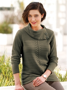 Button Rib Sweater