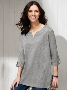Roll Tab Tunic Top