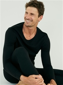 Men's Brushed Thin Rib Long Sleeve