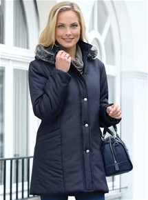 Chic Quilted Overcoat