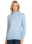 Turtle Neck Long Sleeve Cashmere Sweater_12W37_0
