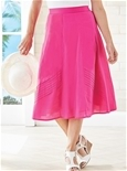 Pleated Cotton Skirt_17D15_0