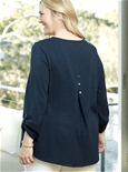 Tab Sleeve Button Back Tee [PLUS SIZE]_17Y39_1