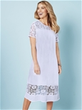 Lace Trim Crinkle Dress_18S25_1