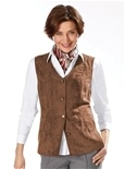 Suedette Button Vest_19Q73_0