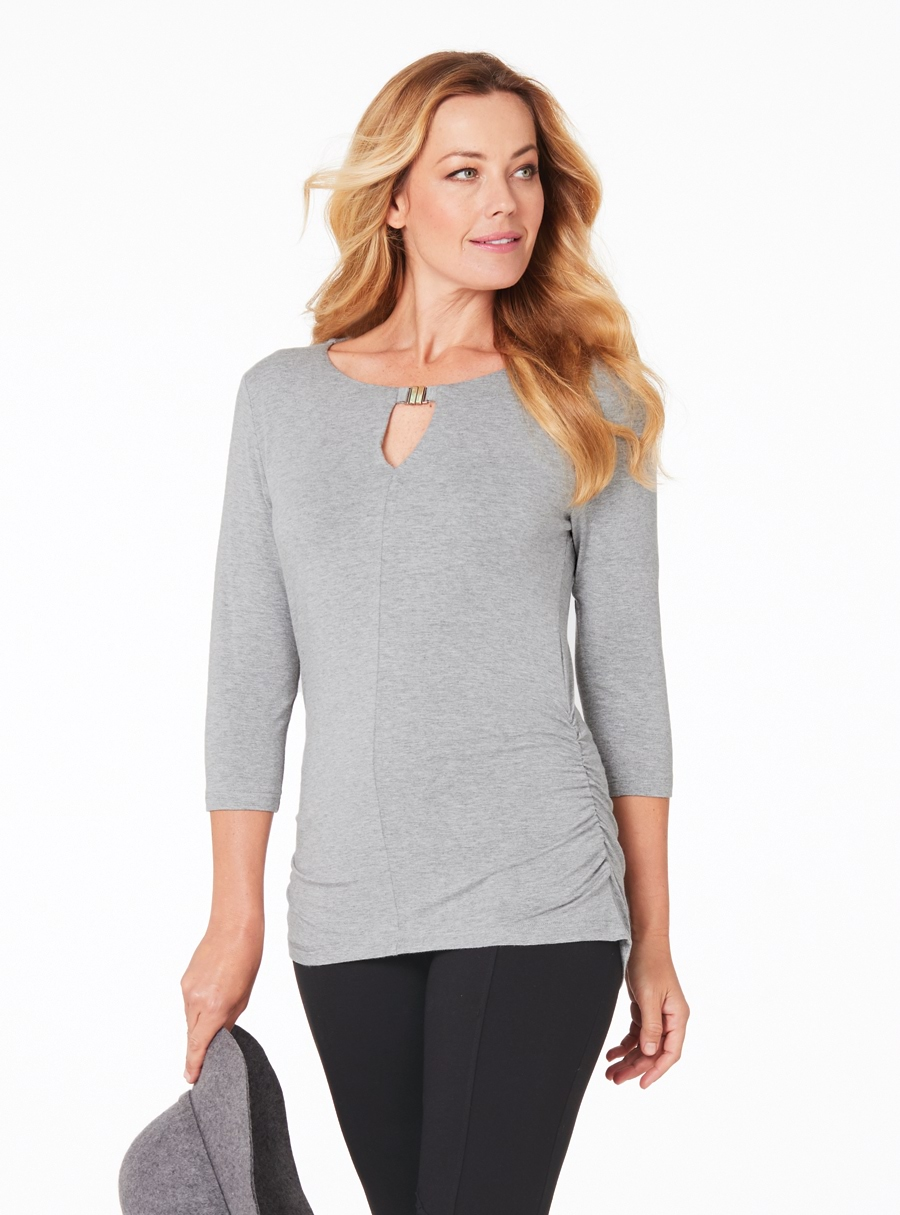 Travel Rouched Top Grey 18