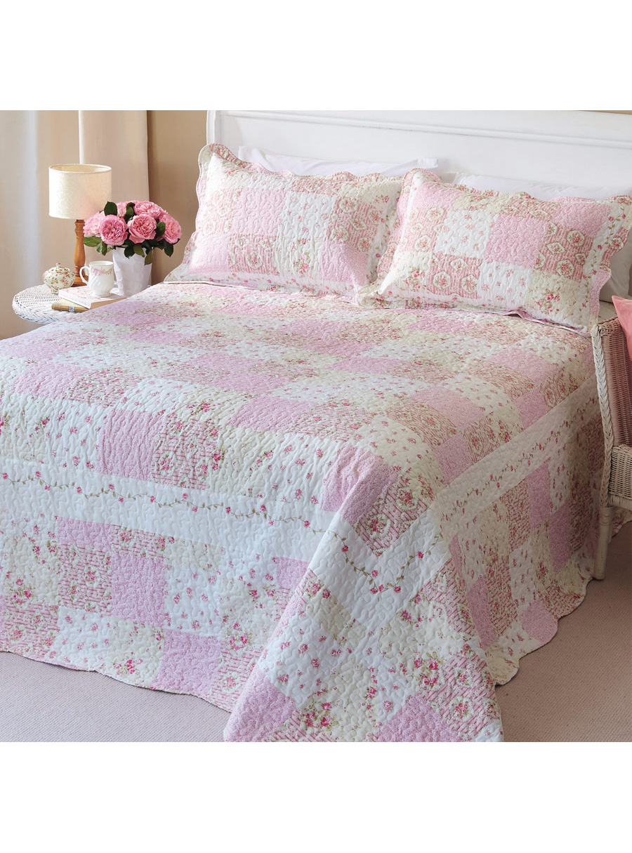 Rose Design Bedspread  Double
