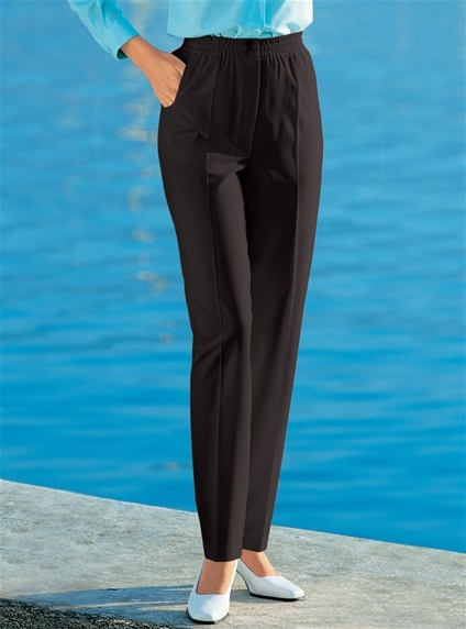 Stretch Waist Button Trousers