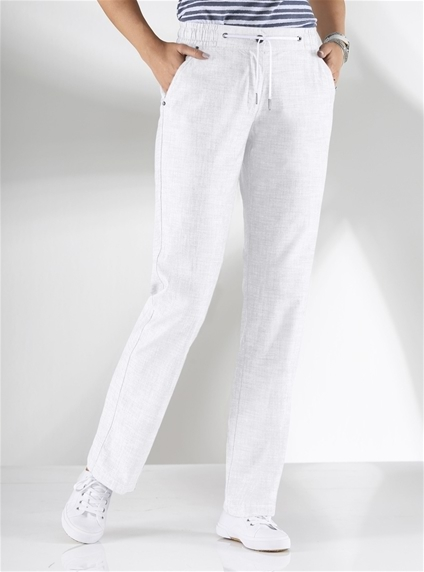 Crisp Cotton Pants